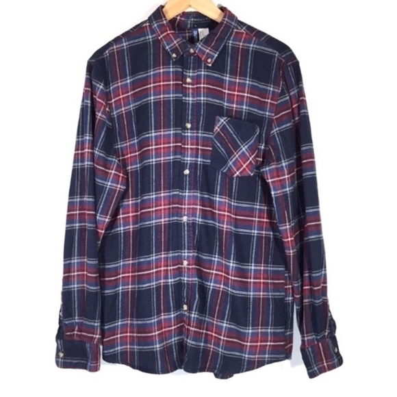 H&M Other - H&M Button Down Shirt Plaid Flannel Long Sleeve
